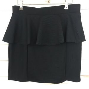 Topshop Black ruffle skirt, Size 8